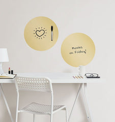 Gold Foil Dry Erase Dot Decals - Window Film World