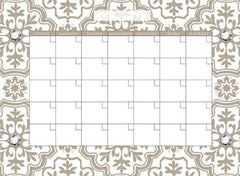Kolkata Monthly Dry Erase Calendar Decal - Window Film World