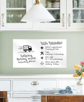 White Weekly Message Board Decal - Window Film World