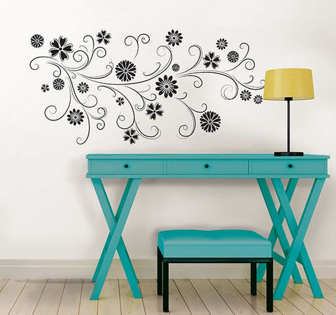 Floral Silhouette Wall Art Kit - Window Film World