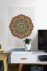 Paradise Mandala Coloring Wall Decal - Window Film World