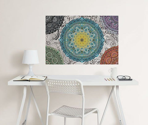 Shangri-La Mandala Coloring Wall Decal - Window Film World