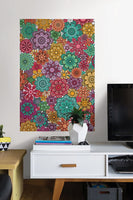 Marigold Floral Coloring Wall Decal - Window Film World