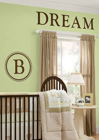 Durham Monogram Wall Decals - Espresso Brown - Window Film World