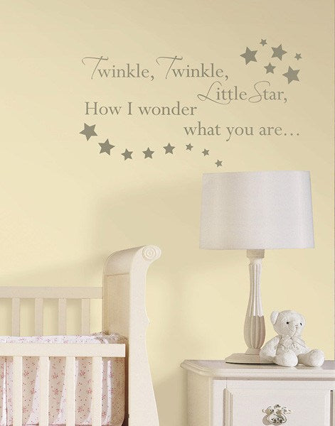 Twinkle, Twinkle - Wall Decal Quotes - Window Film World