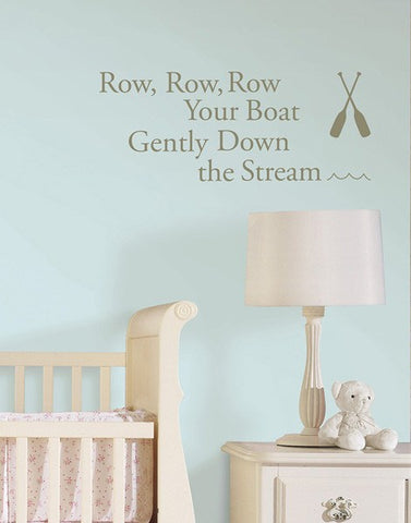 Row Your Boat - Wall Decal Quotes - Window Film World