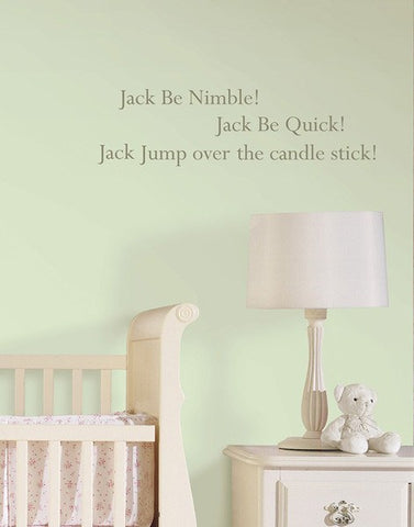 Jack be Nimble - Wall Decal Quotes - Window Film World
