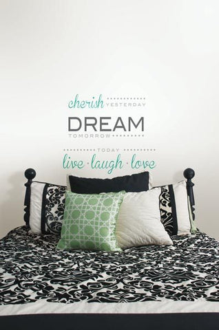 Cherish Dream Live - Wall Decal Quotes - Window Film World