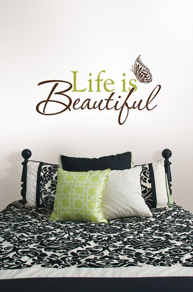 Life is Beautiful - Wall Decal Quotes - Window Film World
