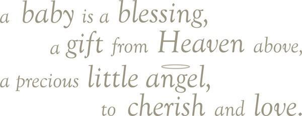 Baby is a Blessing - Wall Decal Quotes - Window Film World
