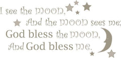 See the Moon - Wall Decal Quotes - Window Film World