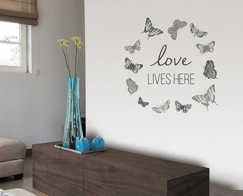 Love Lives Here Wall Sticker - Window Film World