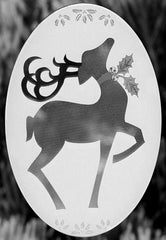 "4"" x 6"" Oval Reindeer 