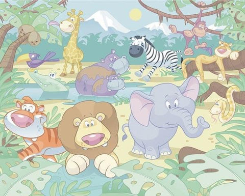 Baby Jungle Safari Wall Mural - Window Film World