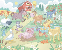 Baby Fun On The Farm Wall Mural | (Adhesive) - Window Film World