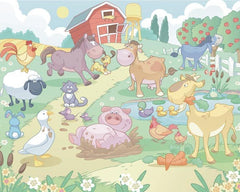 Baby Fun On The Farm Wall Mural - Window Film World