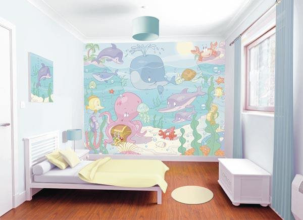 Baby Under The Sea Adhesive Wall Mural - Window Film World
