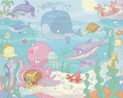Baby Under The Sea Wall Mural - Window Film World