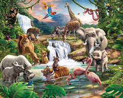 Jungle Adventure Wall Mural - Window Film World