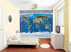 Map Of The World Wall Mural - Window Film World