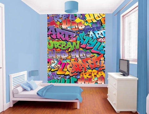 Graffiti Wall Mural - Window Film World