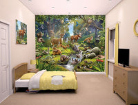 Animals Of The Forest Wall Mural - Window Film World