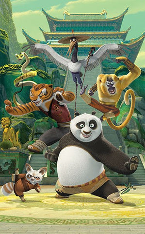 Kung Fu Panda Wall Mural - Window Film World