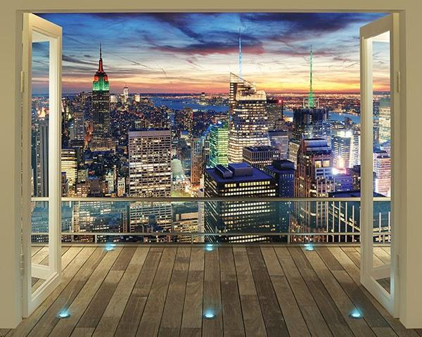 New York City Skyline Wall Mural - Window Film World