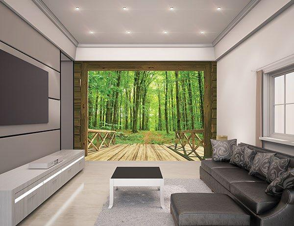 Woodland Forest Wall Mural - Window Film World
