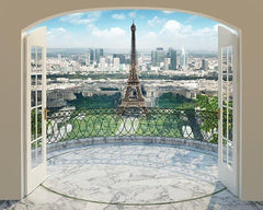 Eiffel Tower in Paris Wall Mural - Window Film World