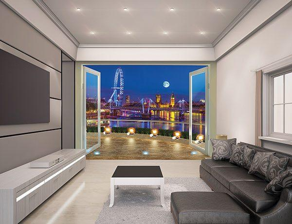 London Skyline Wall Mural - Window Film World