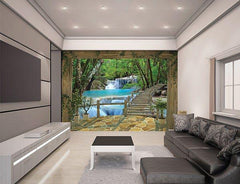 Waterfall Wall Mural - Window Film World