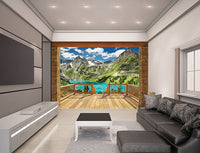 Alpine Mountain Wall Mural - Window Film World