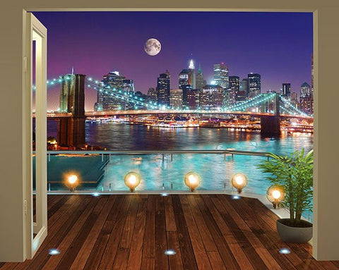 Brooklyn Bridge NYC Wall Mural - Window Film World