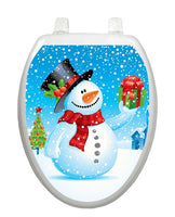 Snowman Toilet Tattoo - Window Film World