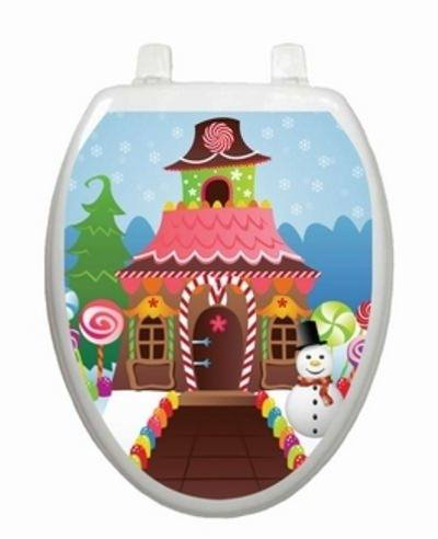 Christmas Candy House Toilet Tattoos - Window Film World