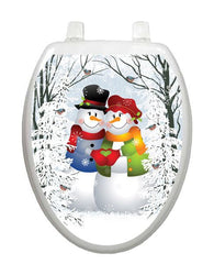 Snow Couple Toilet Tattoos - Window Film World