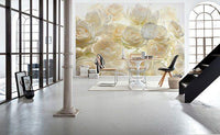 Ivory Rose Wall Mural - Window Film World
