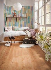 Painted Wood Wall Mural - Window Film World