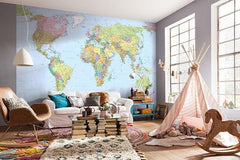 World Map Mural - Window Film World