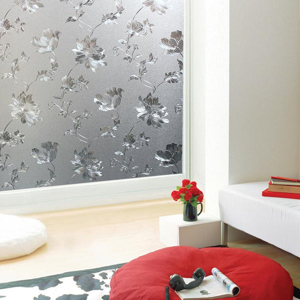 Ez Film Antique Bouquet Privacy Window Film Static Cling