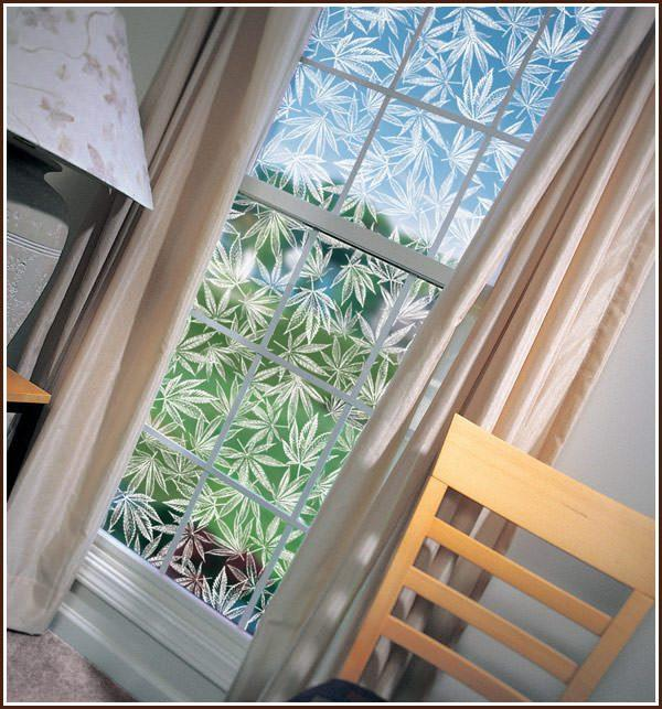 Amsterdam - Pot Leaf | See-Thru Window Film (Static Cling) - Window Film World