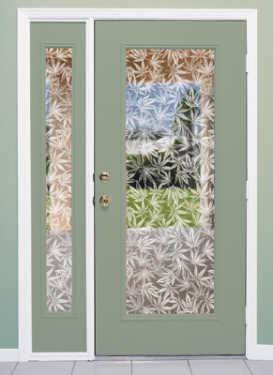 Privacy Window Film Amsterdam Frosted Vinyl Pot Leaf