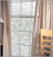Amsterdam - Pot Leaf | Privacy Window Film (Static Cling) - Window Film World