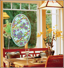 Biscayne Stained Glass Oval Window Film - Window Film World
