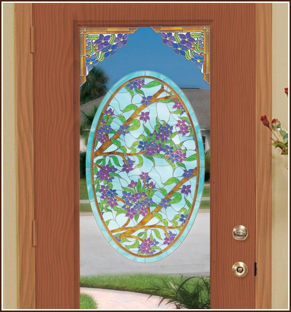 Biscayne Stained Glass Oval Window Film