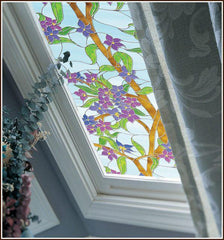 Biscayne Privacy Stained Glass Window Film - Window Film World