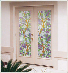 Biscayne Privacy | Stained Glass Static Cling Film - Window Film World