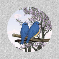 "Blue Birds Screen Of Happiness Door Magnets (5.75"" x 5.75"") - Window Film World"