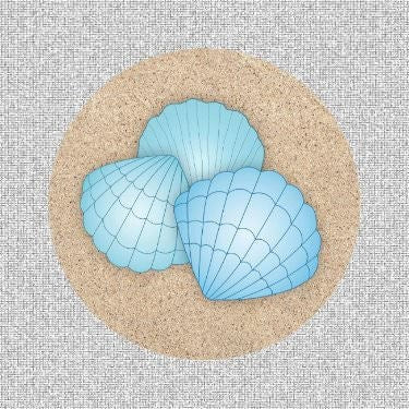 "Blue Shells Screen Door Magnets (5.75"" X 5.75"") - Window Film World"
